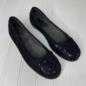 Aerosoles Memory Foam Sparkle Ballet slipper sz 6